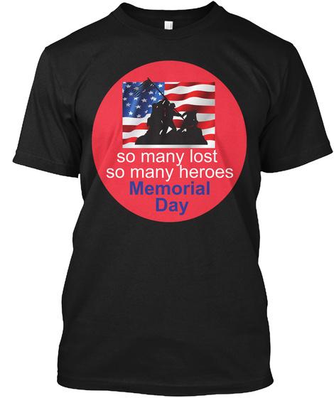 Memorial Day Tshirt Black T-Shirt Front