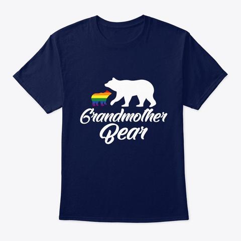 Grandmother Bear Lgbt Rainbow Pride Gay  Navy T-Shirt Front