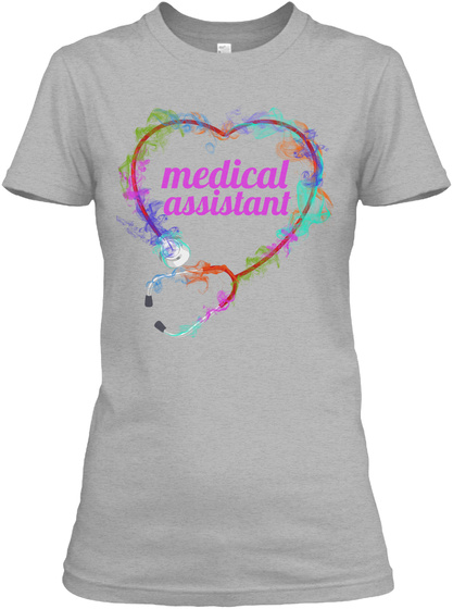 Cute Medical Assistant Shirt Sport Grey T-Shirt Front