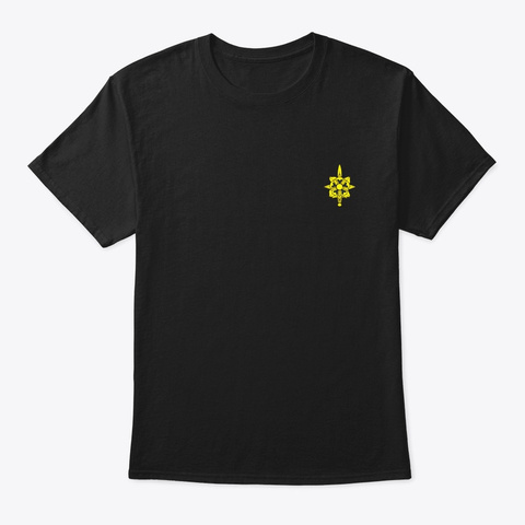 Army Military Intelligence Branch Black T-Shirt Front