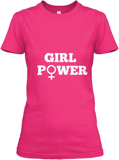 Girl P Wer Heliconia Women's T-Shirt Front