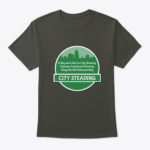 City Steading Logo Design Smoke Gray T-Shirt Front