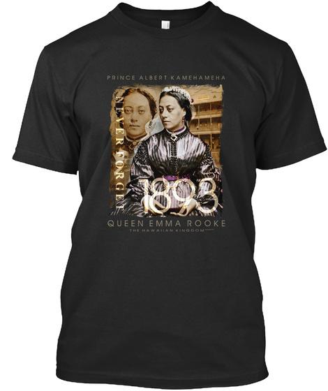 Emma Rooke And Albert Edward Kamehameha Black T-Shirt Front