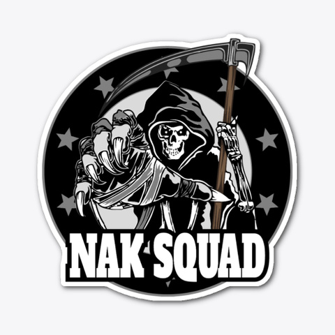 Nak Squad Logo Stickers Standard T-Shirt Front