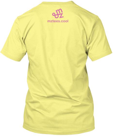 Pencil And Paper Lemon Yellow  T-Shirt Back
