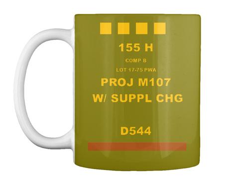 He Round Coffee Mug Olive Green Mug Front