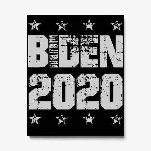 Vote For Biden 2020 Vintage Button Joe B Black T-Shirt Front