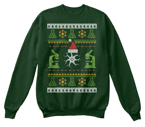 Biology Holiday Sweater  Deep Forest  T-Shirt Front