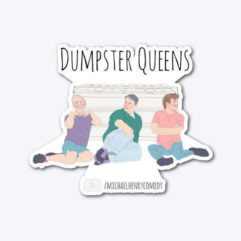 Dumpster Queens Merch Standard Camiseta Front