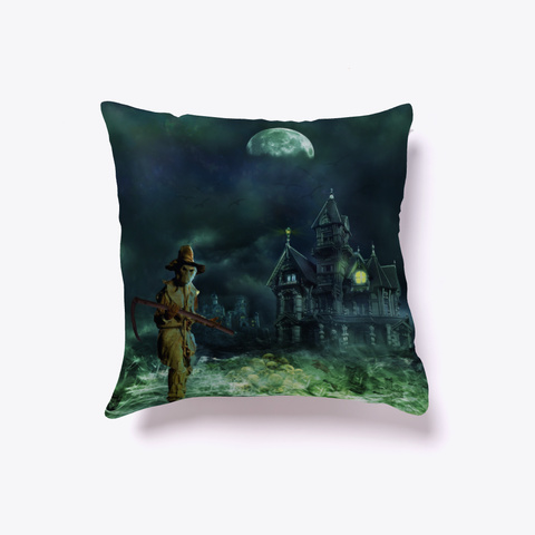 Creepy Halloween House   Pillow Dark Navy T-Shirt Front