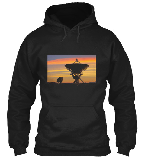 Picture Of Radio Telescopes Black T-Shirt Front