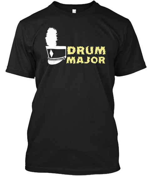 Drum Major Black T-Shirt Front