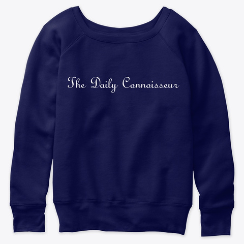 Chic Slouchy Sweatshirt Navy  T-Shirt Front