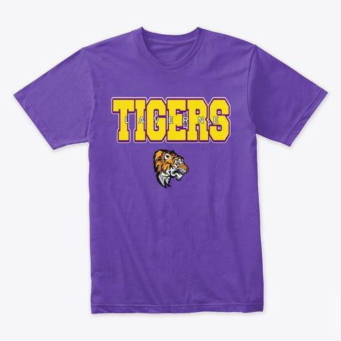 Laverne Tigers Purple Rush T-Shirt Front
