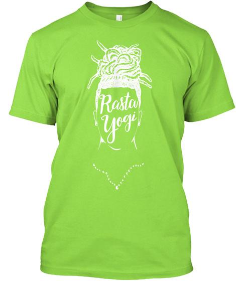 Rasta Yogi Lime T-Shirt Front