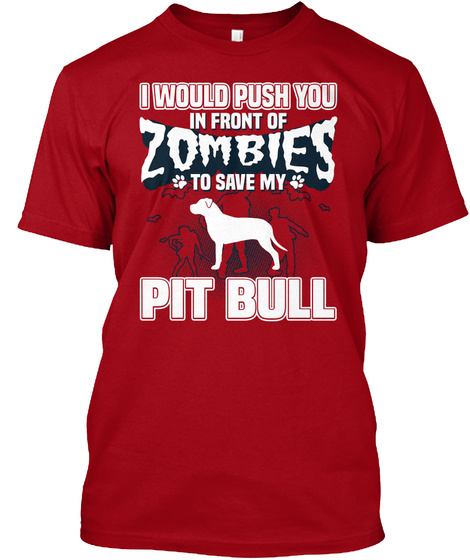 Pit Bull Deep Red T-Shirt Front