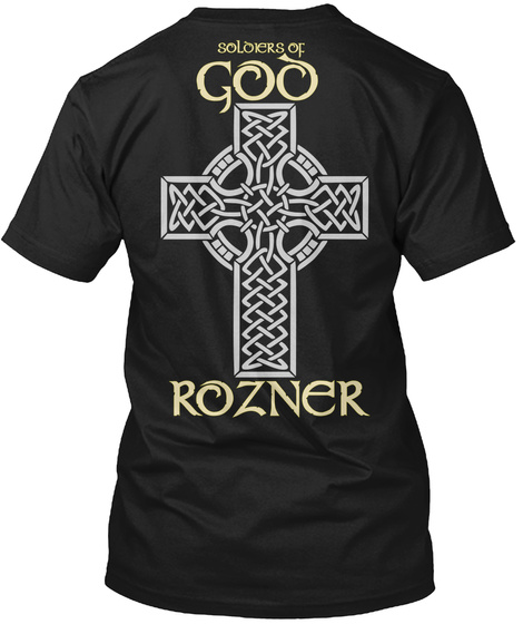 Rozner   Soldiers Of God Black T-Shirt Back