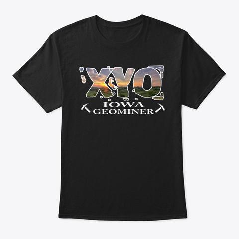 Xyo Iowa Design Black T-Shirt Front