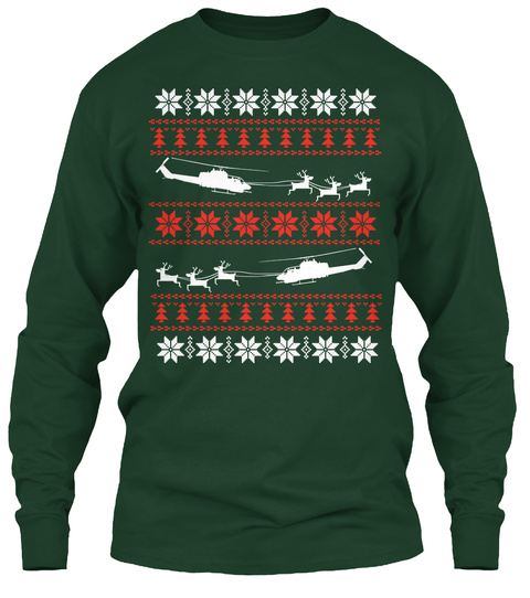 Awesome Ah1 Christmas Shirt!  Forest Green T-Shirt Front