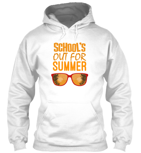 Schools Out Holiday Gift White T-Shirt Front
