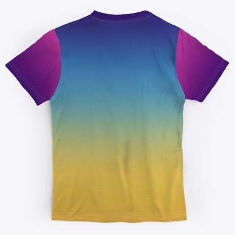 Funky Abstract Color Gradient Standard Camiseta Back
