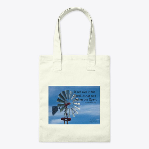 Windmill Spirit Verse Natural T-Shirt Front