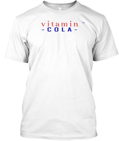 Vitamin Cola White T-Shirt Front