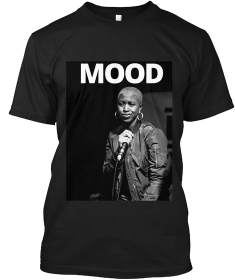 Mood Black T-Shirt Front