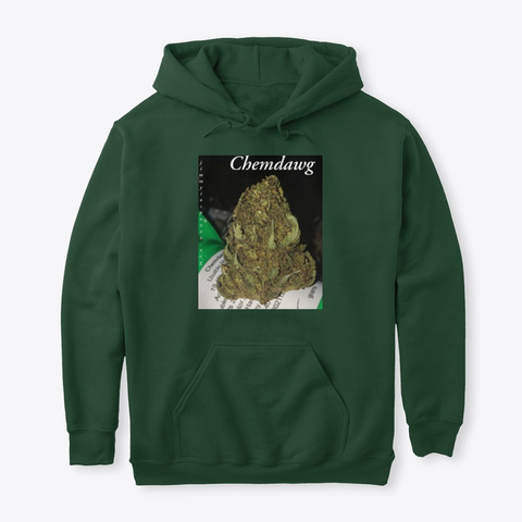 Jimmyinspaz Zz 'chemdawg' Forest Green T-Shirt Front