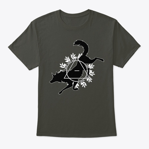 Wolf Therian Design Smoke Gray T-Shirt Front