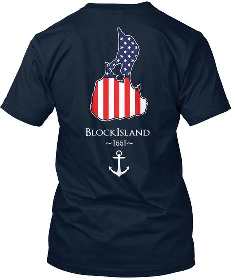 Blockisland ~1661~ New Navy T-Shirt Back