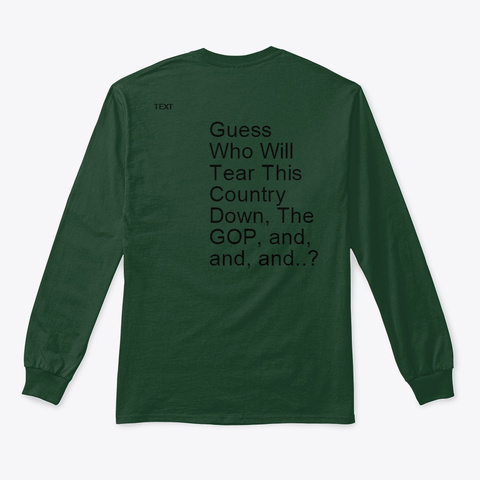 Guess Who Forest Green Long Sleeve T-Shirt Back