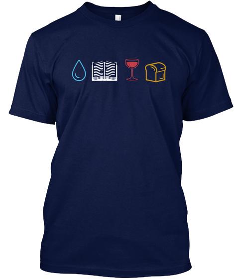 #Sacramentallife Navy T-Shirt Front