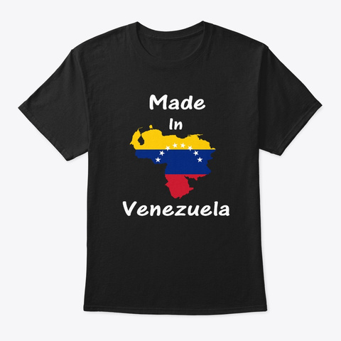 Made In Venezuela Living In Italia Black T-Shirt Front