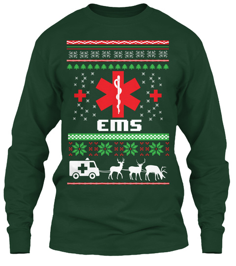 Ems  Forest Green T-Shirt Front