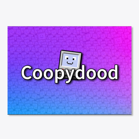 Coopydood Sticker Black T-Shirt Front