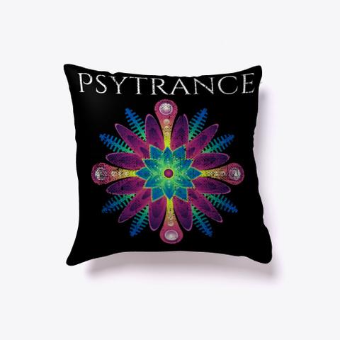 Psytrance Trance Hippy Festival Dance  Black Maglietta Front
