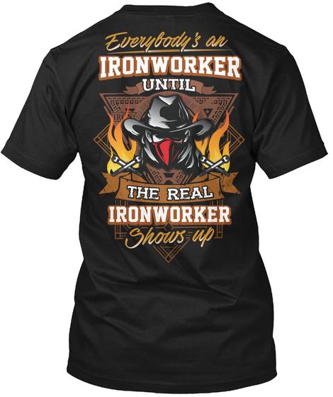 Awesome Ironworker Black T-Shirt Back