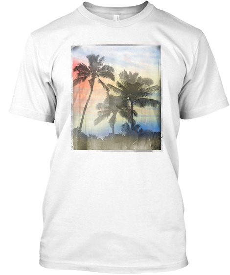 Palm Dream White T-Shirt Front
