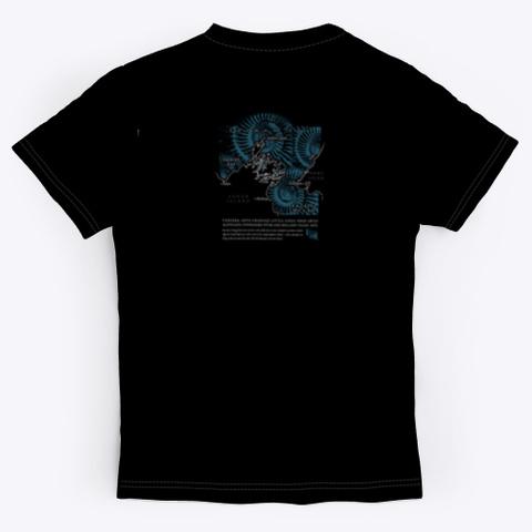 Tuatara, Stephens Island, New Zealand  Black T-Shirt Back