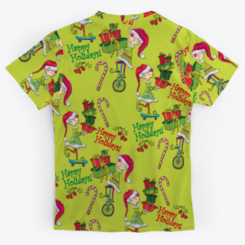 Holiday Elves Gifts Candycane Standard T-Shirt Back