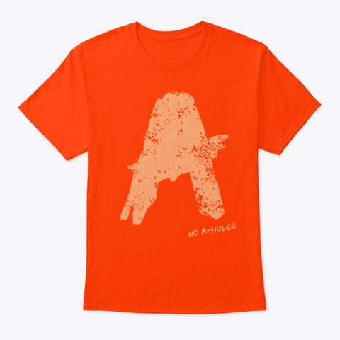 No A Holes™ Logo Distressed (Mp) Orange T-Shirt Front