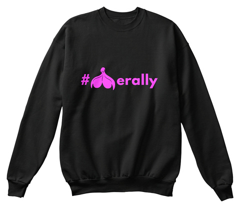 # Erally Black Sweatshirt Front