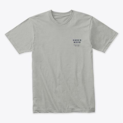 Shred Head Rock N Roll Guitar Light Grey T-Shirt Front