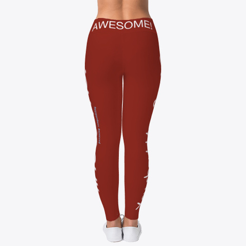 I'm Awesome! Get 2 Know Me! Dark Red T-Shirt Back