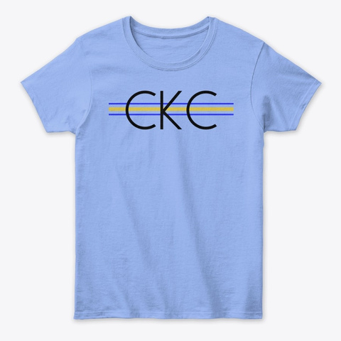 Women's Ckc Disciple Classic Tee Light Blue T-Shirt Front