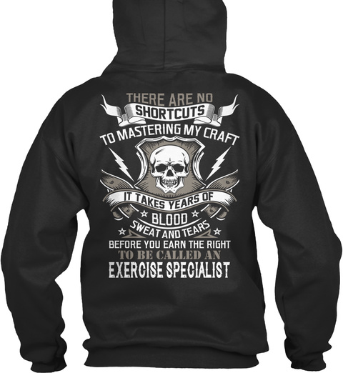 Exercise Specialist Jet Black T-Shirt Back