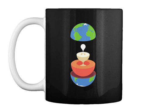 Layers Earth Mug V [Usa] #Sfsf Black Mug Front