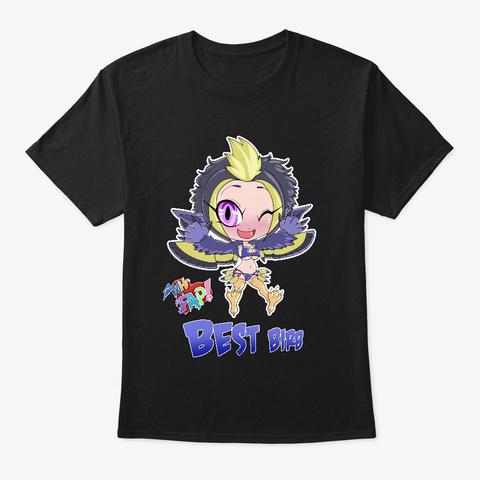 """Mhfap! Chibi Tali """"Best Birb"""" Black T-Shirt Front"""
