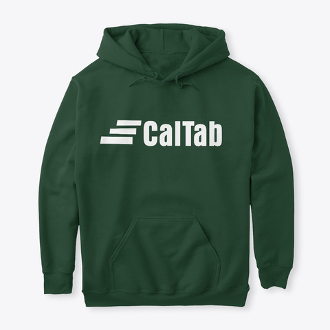 Cal Tab Clothing Forest Green Sweatshirt Front